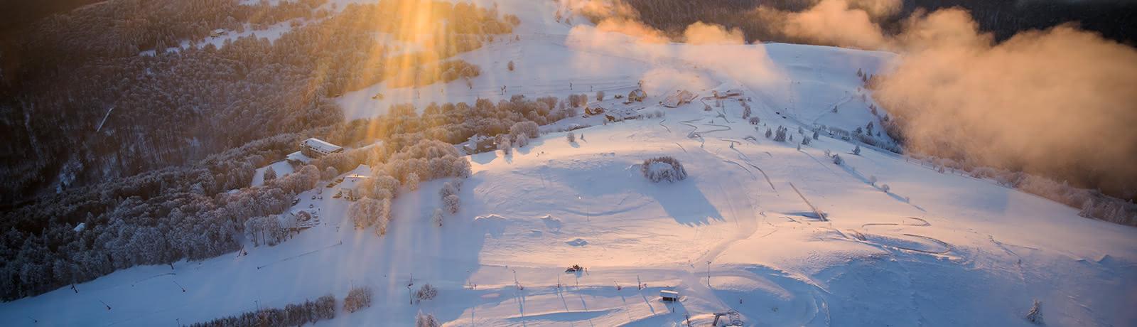 Paysage d'hiver dans le Massif des Vosges