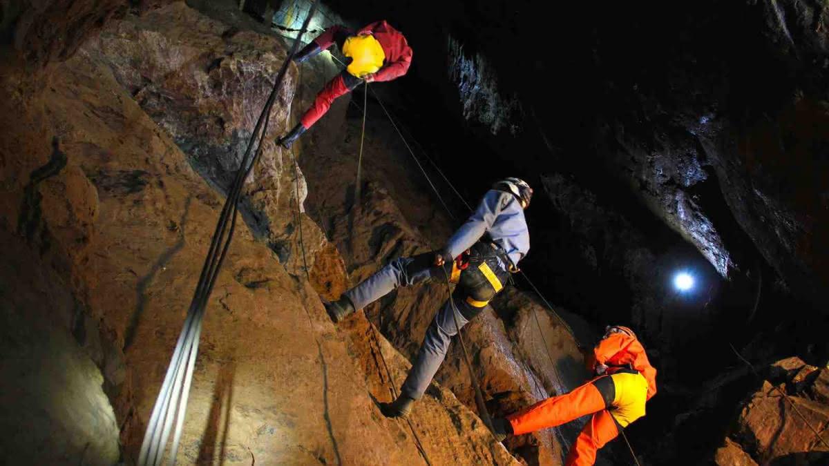 Spéléologie dans les mines à Tellure Sainte-Marie-aux-Mines