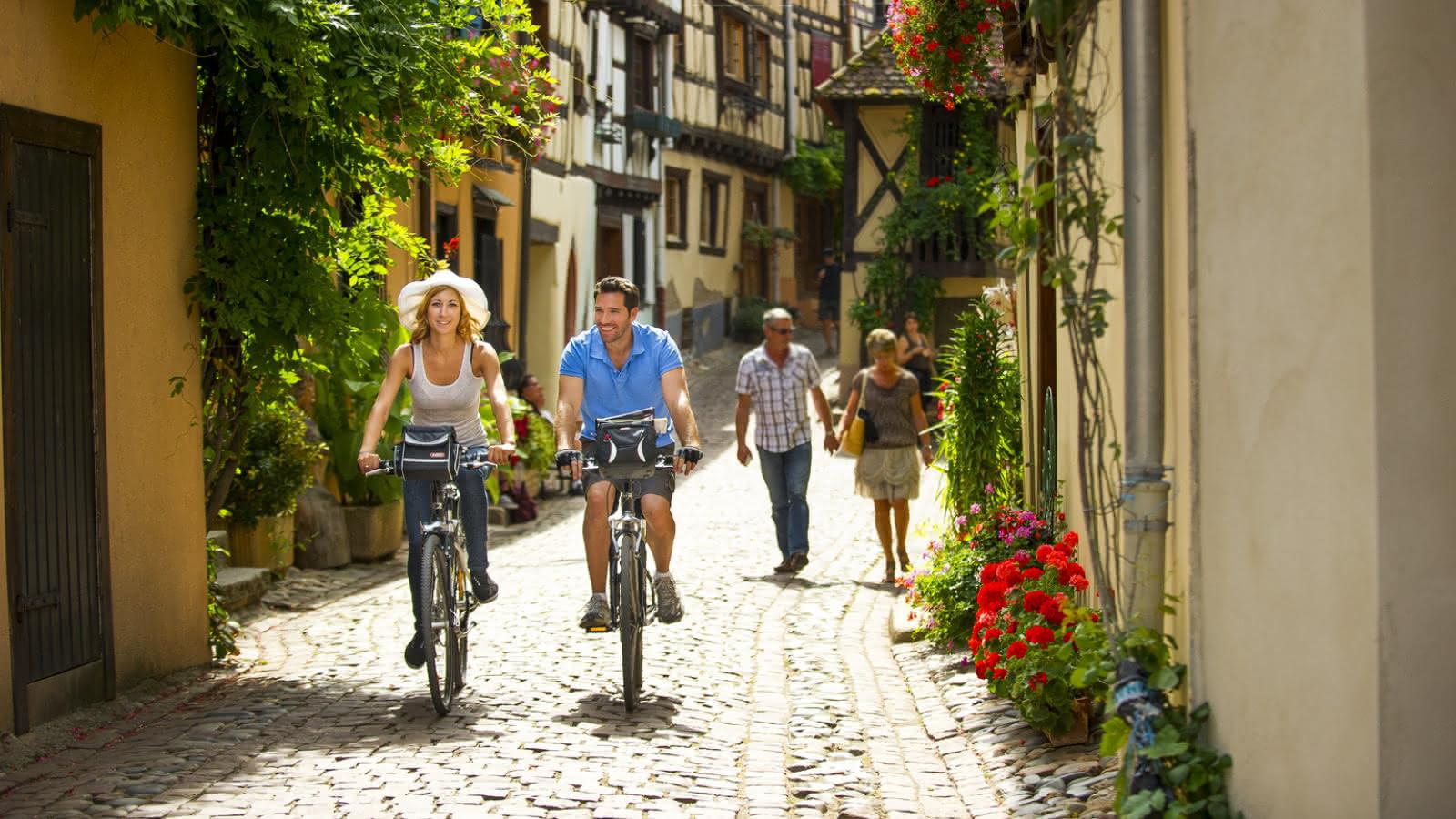 Balade à vélo - Village typique