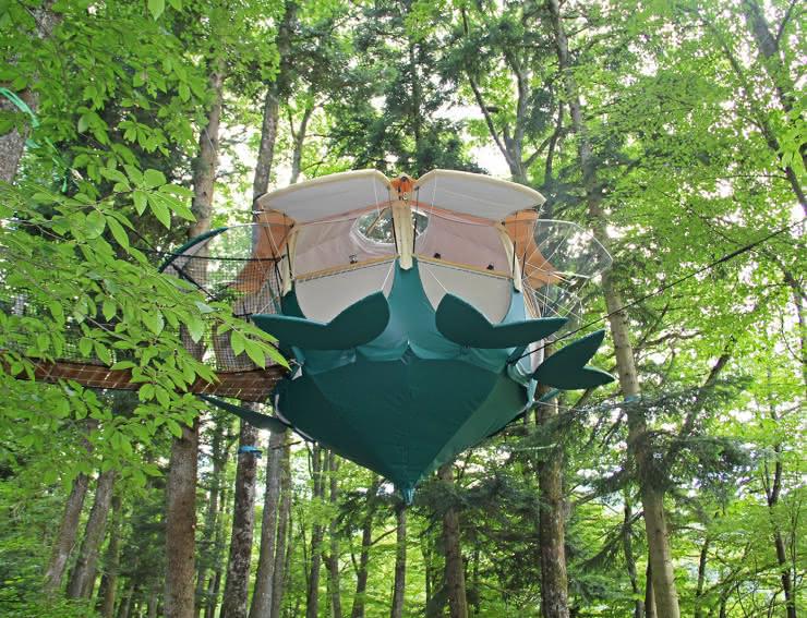 Cabane dans les arbres - La Campanule