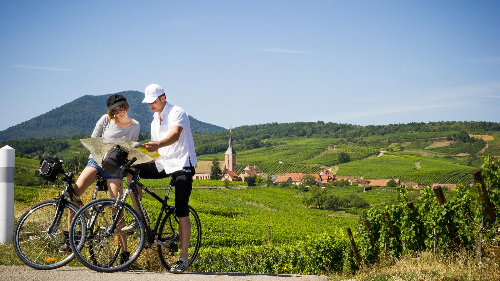 Carte Alsace A Velo.Itineraires Et Circuits A Velo Visit Alsace