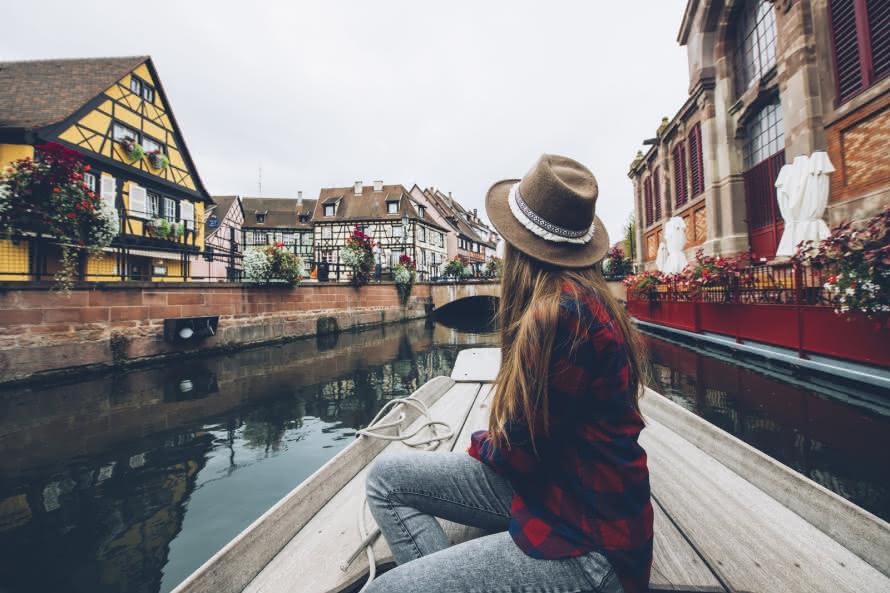 Balade en barque sur la Petite Venise - Colmar