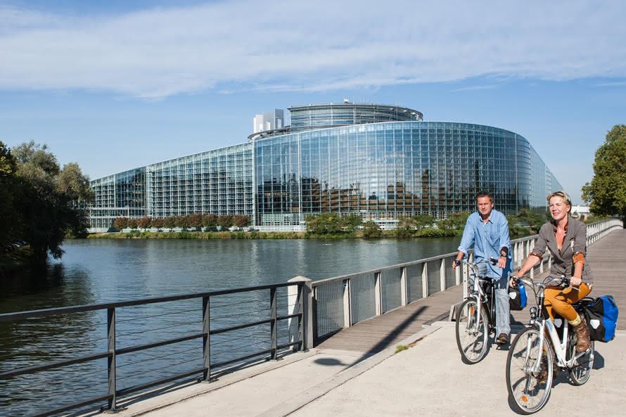 EuroVelo 15 - Parlement Européen - Strasbourg