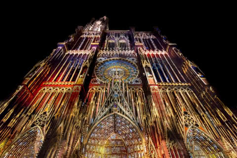 Illuminations de la cathédrale de Strasbourg