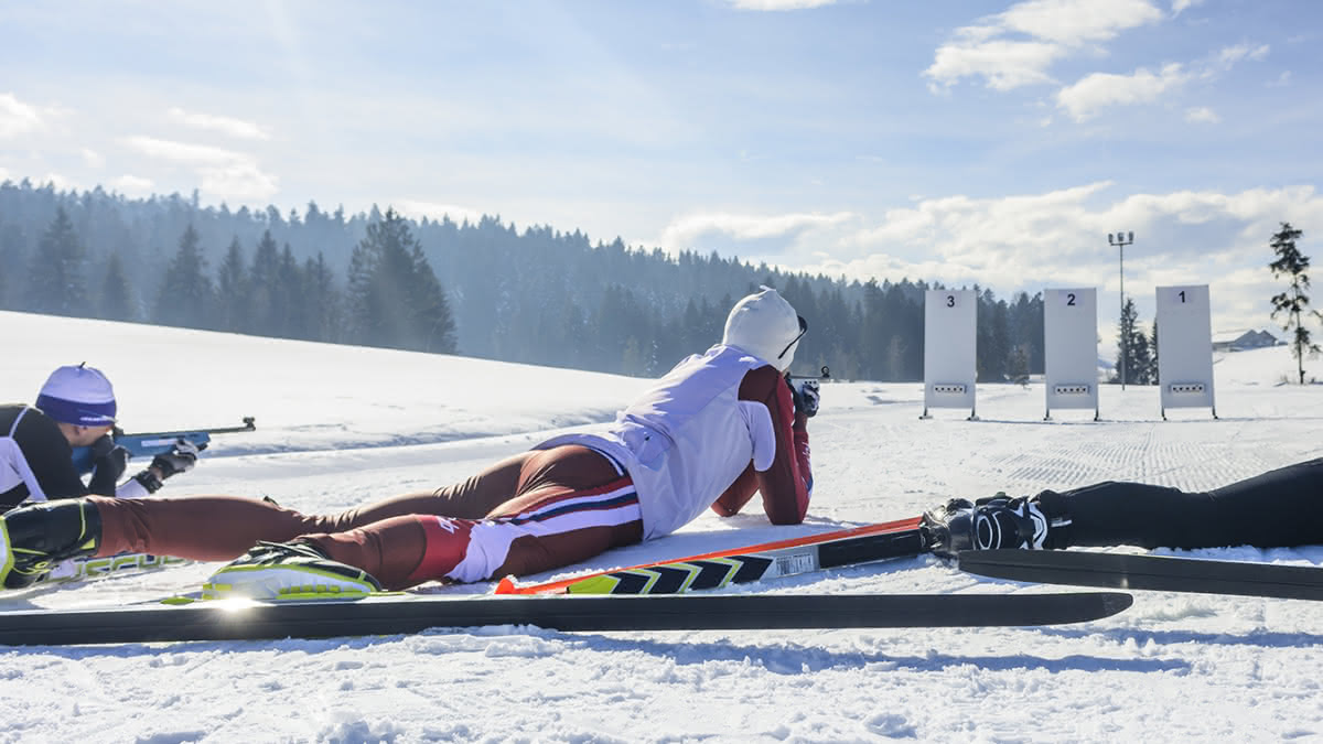 Initiation de biathlon