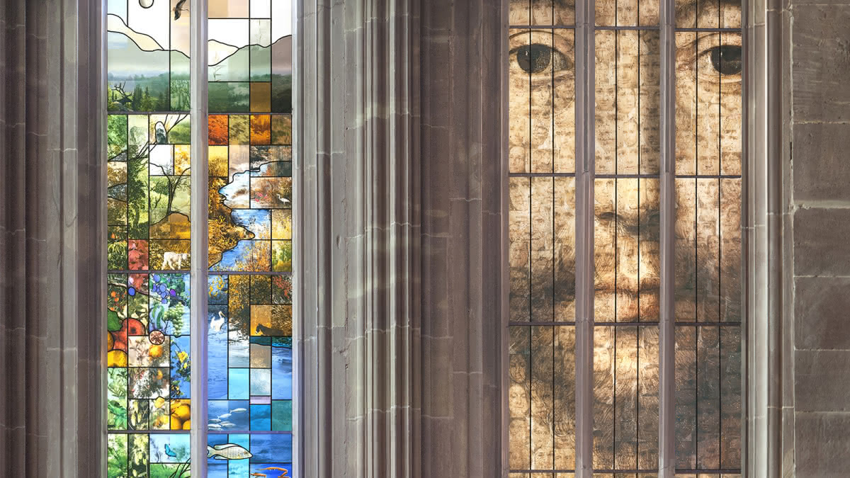 Vitrail des cent visages - Cathédrale de Strasbourg