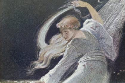 Dame Blanche - Charles Spindler dans Légendes d'Alsace de Georges Spetz