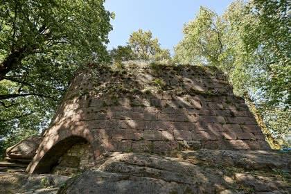 Le sentier du Château de Salm. La Broque. Crédit photo : Office de tourisme de la vallée de la Bruche