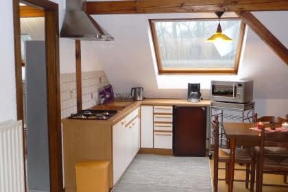 Möblierte Wohnung von Frau Pfeiffer, Niederbronn-les-Bains, Elsass, Küchenbereich