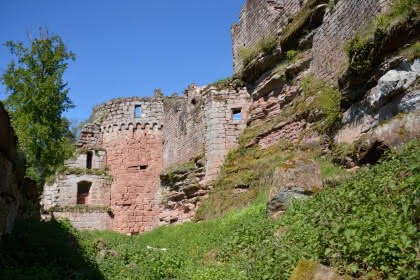 Château du Schoeneck,  ruines des Vosges du Nord, Dambach, Alsace