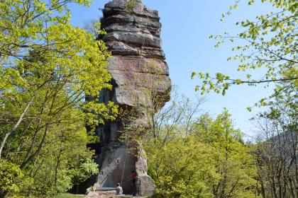 Escalade au plus près des châteaux de Windstein, Alsace