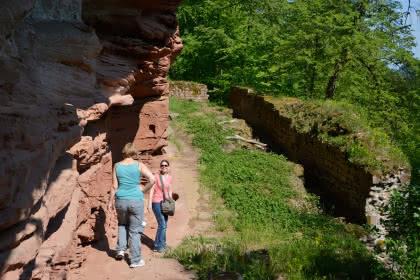 Randonnée vers les châteaux de Windstein, Alsace