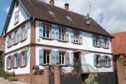 Meublé de M. Leininger,  Mietesheim, Alsace, vue extérieure