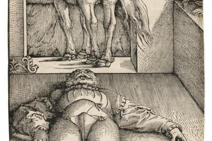 Hans Baldung Grien, Le palfrenier ensorcelé. Photo : Mathieu Bertola, Musées de Strasbourg.