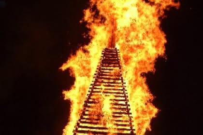 feu d'été à Soultzeren - Alsace
