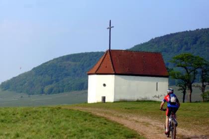 Mountainbiken in der Nähe der Bollenbergkapelle