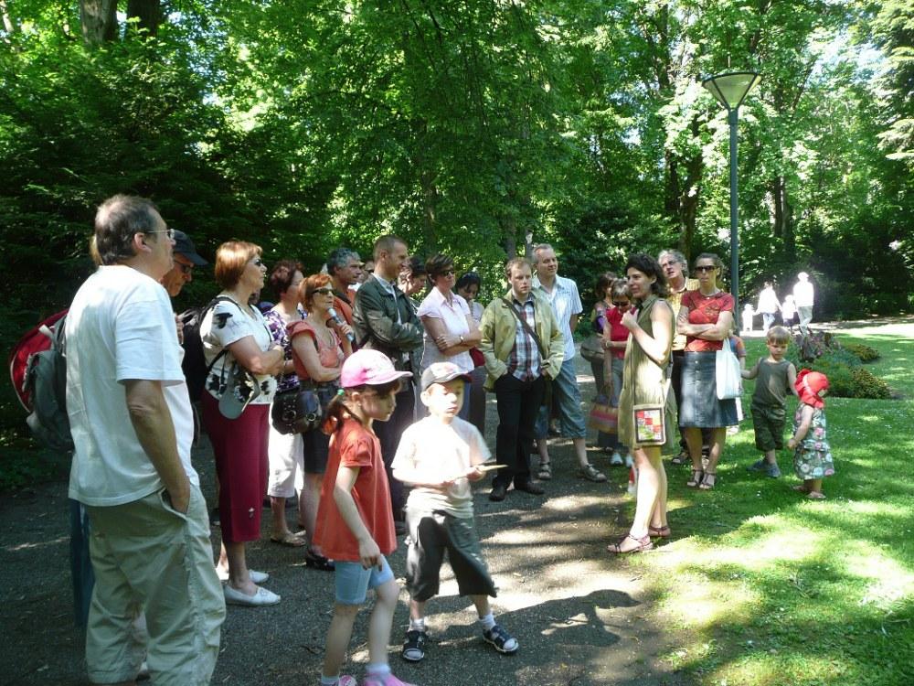Visite guidée animée par le Pays d'Art et d'Histoire au Parc de la Marseillaise à Guebwiller