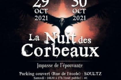 Affiche de la nuit des Corbeaux Halloween 2019