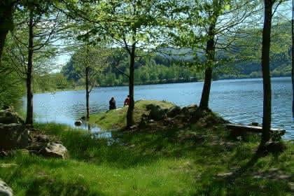 Lac de Kruth en été
