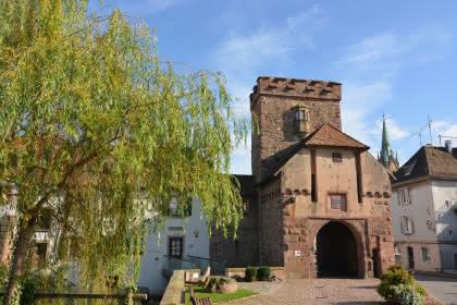 Vue du musée et de la Porte de Thann © Catherine Pinot