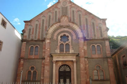 La façade de la synagogue ©Jean-Paul Dumel