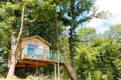 Cabane Robin des bois © Camping les Castors