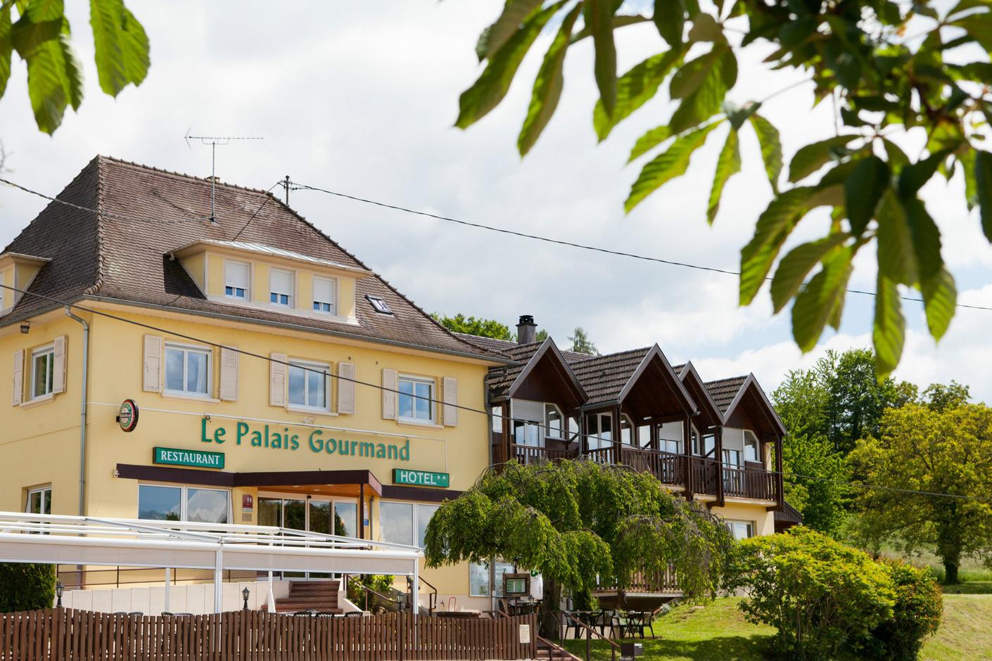 Hôtel-restaurant Le Palais Gourmand, Goersdorf, Alsace, Vue extérieure