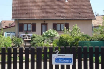 Maison vue à partir de la rue