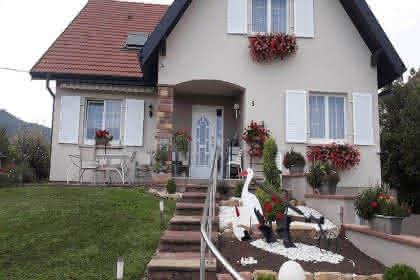 La maison située dans  le vignoble