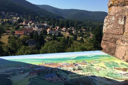 Vue satellite  du circuit de la Suisse d'Alsace