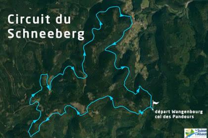 Vue satellite du circuit du Schneeberg