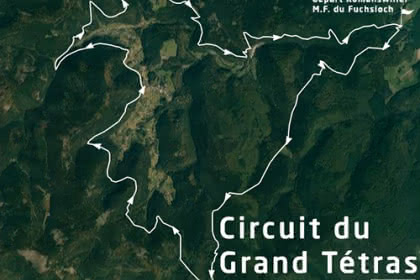 Vue satellite du circuit du Grand Tétras