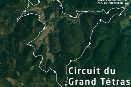Vue satellite du circuit du Grand Tétras