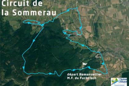 Vue satellite du circuit de la Sommerau