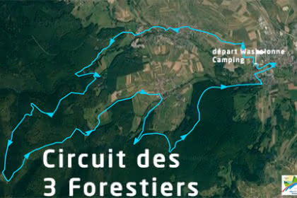 Vue satellite du circuit des 3 Forestiers