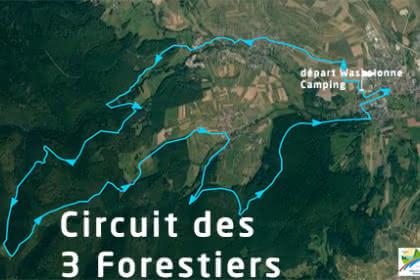 Vue satellite du circuit des 3 Forestiers