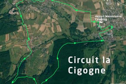 Vue satellite du circuit la Cigogne