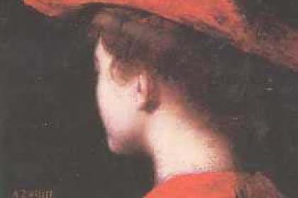 Jeune femme au chapeau rouge  par Augustin ZWILLER<br> Photo: Jean-Paul Girard