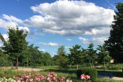 Suivre le cheminement dans l'herbe coupée... crédits photos : ville de Brumath
