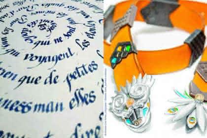 Armelle Line Peltier, calligraphe / Noémie Gotti, joaillière créatrice