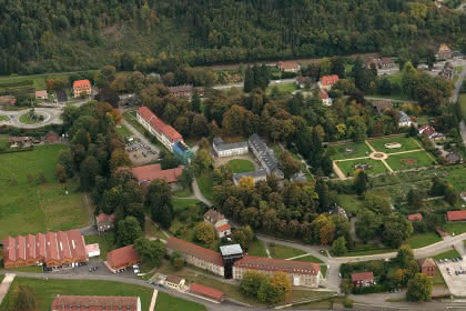 Vue aérienne du Parc de Wesserling - © Marbach  & Schwebel